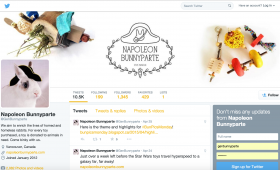 Napoleon Bunnyparte: Social Media Brand